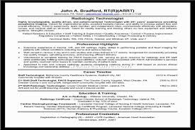 Radiology Tech Resume Medical Technologist Resume Research Plan Example