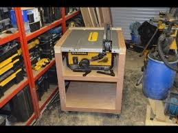 table saw station plans mobile table saw station build with plans youtube wood work