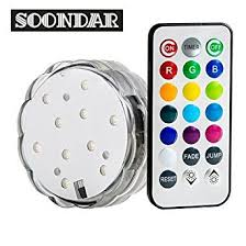 soondar multicolor led submersible light base with remote