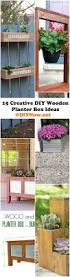 Diy Railing Planter Box by 25 Unique Diy Wooden Planters Ideas On Pinterest Woodworking