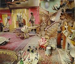pictures of living room the addams family s living room was actually pink bored panda