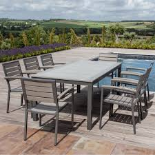 outdoor six seater patio set 8 foot outdoor dining table 8