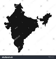 Map Icon Indian Map Icon Simple Illustration Indian Stock Illustration