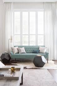 Long White Curtains Curtains Behind Sofa Design Ideas