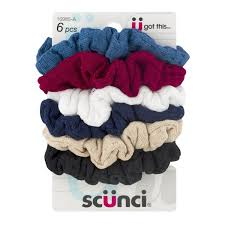 scunci hair scunci hair scrunchies assorted colors 6 pc 6 ct from fred