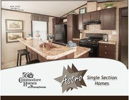 commodore homes of pennsylvania astro single section homes 2016