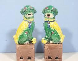 green foo dogs green foo dogs etsy