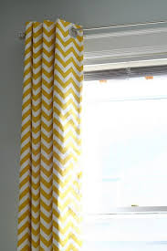 Yellow Nursery Curtains Wonderful Yellow Chevron Curtains And Yellow Chevron Blackout