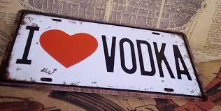 i love vodka car plate decor for truck tin metal signs bar pub