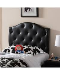 Leather Headboard Queen Bed by Savings On Baxton Studio Whalen Black Contemporary Faux Leather