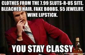 Sluts Memes - clothes from the 7 99 sluts r us site bleached hair fake boobs 5