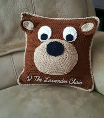 Free Cushion Crochet Patterns Teddy Bear Pillow Free Crochet Pattern The Lavender Chair My