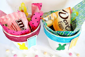 Homemade Easter Baskets by Diy Easter Basket Jellybean Candy Bark