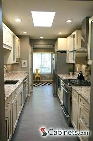 ideas for galley kitchens galley kitchen ideas grey and white narrow kitchen with dual