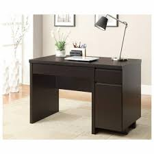 Small Desk Brown Small Corner Desk With Storage Minimalist Brown Stained Hardwood