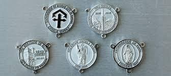custom rosary custom rosary medals remembering anniversaries and celebrations