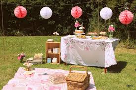 High Tea Party Decorating Ideas Pretty Summer Picnic Tea Party Party Ideas Photo 1 Of 18 Catch