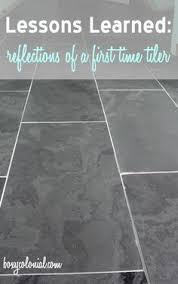 slate floor keeping that same tile in the bathroom just smaller