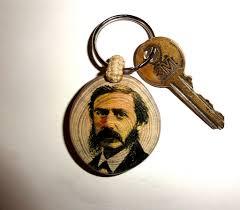 unique key ring bret harte keychain keyring key chain handmade unique