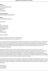 Sample Lab Technician Resume by Sample Job Application Letter For Lab Technician Resume Acierta Us