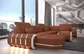 Leather Sofa With Chaise Lounge by Leather Sectional Sofa Brooklyn U Shape