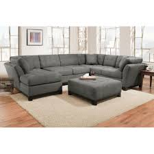 living room three piece sectional couch charcoal grey tweed sofa