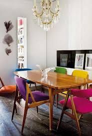 chaises cuisine couleur decoration chaises cuisine vintage tapisserie couleurs déparaillées