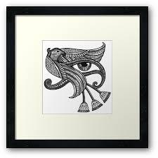 eye of horus style print framed prints by