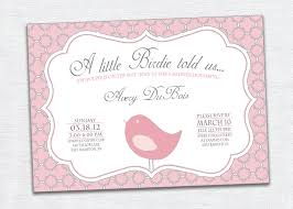 Avery Invitation Cards Bird Baby Shower Invitations Theruntime Com