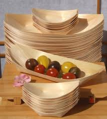 canap large bamboo wood boats large standard for foods snacks nibbles
