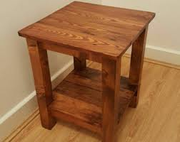 Wood Side Table Reclaimed Wood C Table Side Table