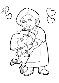 dora explorer image coloring kids