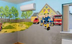 boy s room mural with cars mcqueen mater buzz lightyear fireman fireman sam mural corner