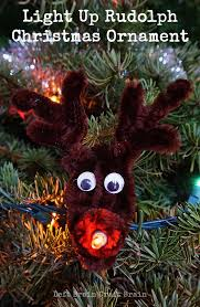 easy light up rudolph ornament left brain craft