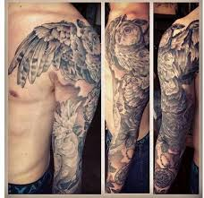Owl Shoulder - how the wing comes the shoulder plus owl done by
