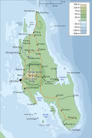 Michigan Topographic Maps by Topographic Map Of Zanzibar U2022 Mapsof Net
