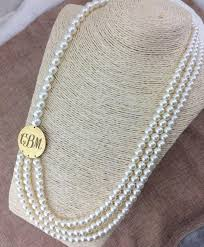 multi pearl necklace images Chunky multi strand pearl necklace with blank southern accent blanks jpg