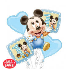 1st birthday balloon delivery baby mickey mouse 1st birthday balloon bouquet 5pc from category