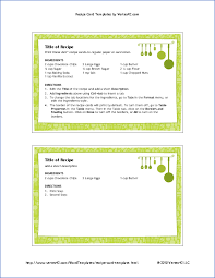 4x6 recipe card template with pretty green border and hanging pots
