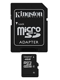 Micro Sd Kingston 4 Gb Microsdhc Class 4 Flash Memory Card Sdc4
