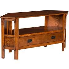 light wood corner tv stand living room furniture mission craftsman throughout oak corner tv