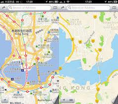 Map Size Comparison Apple Maps China Vs Hong Kong Comparison Image 4 5 Inside