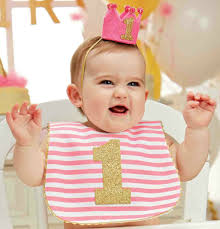 birthday bib mud pie baby 1st birthday bib pink and gold 1