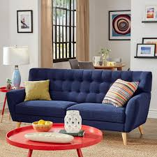 Blue Tufted Sofa by Home Decorators Collection Gordon Natural Linen Sofa 0849400400