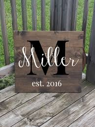 wedding gift signs personalized family name sign last name sign large wooden sign