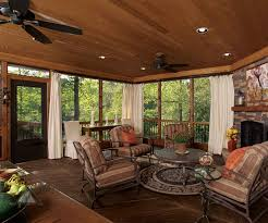 charming wooden ceiling lighting over comfy porch furnishing decks