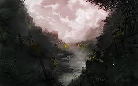 dark village wallpaper kevin whitmeyer game art blog a dark sw village concept for today