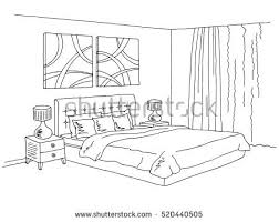 sketch bed element vector download free vector art stock