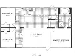 3 bedroom floor plan c 8103 hawks homes manufactured