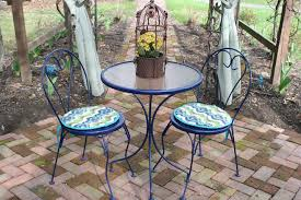 pottery barn bistro table outdoor bistro set makeover modern table and chairs within 16